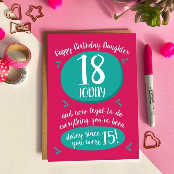 Wonderlijk Grappige dochter 18e verjaardag kaart doen het allemaal sinds   Etsy CC-11