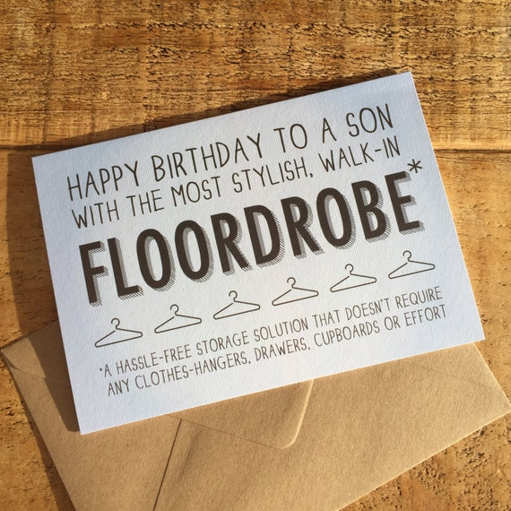 Funny Son Card Birthday For Teenager