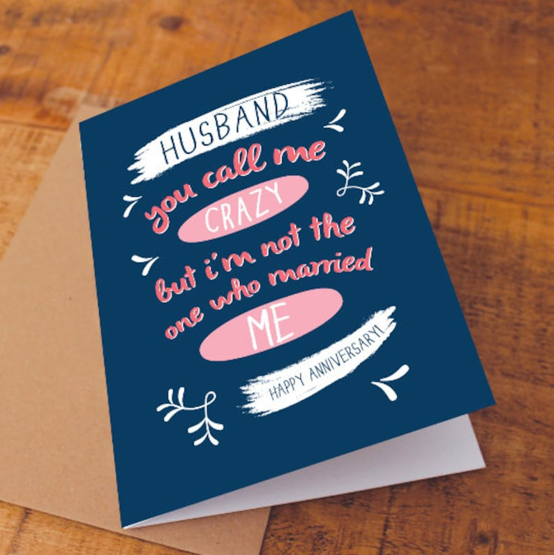 Anniversary for Him PRINTABLE Anniversary Card for Husband Happy Anniversary card paper anniversary funny Anniversary card