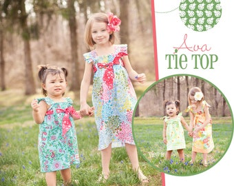 Ava Tie Top Dress- Dolly and Me