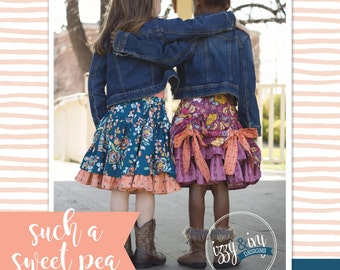 Such a Sweet Pea Girl's Bustled Skirt PDF Pattern Tutorial
