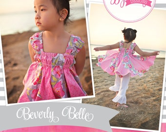 Beverly Belle Girls Twirl Top Sewing PDF Pattern