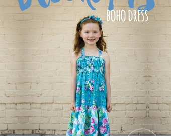 Brooklyn's Boho Dress, Top, and Maxi- Girl's Dress- PDF PATTERN