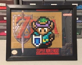 5x7 SNES Perler Frame - Super Nintendo Legend of Zelda a Link to the Past