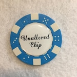 Personalized Poker Chip Charm - Design you own - Custom Photo