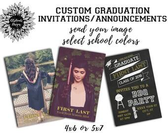 Graduation announcement etsy custom graduation invitation graduation announcement bbq invitation filmwisefo
