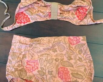 5c310c87cd 1960's Bathing Suit, Vintage Bathing Suit, Peach Bikini, Pink Bikini, Boy  Shorts, Bikini, Mod Bikini, Retro Swimwear, (Ice Cream Sherbert)
