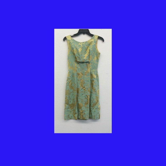 Green Sleeveless Wiggle Dress, 1950's Party Green