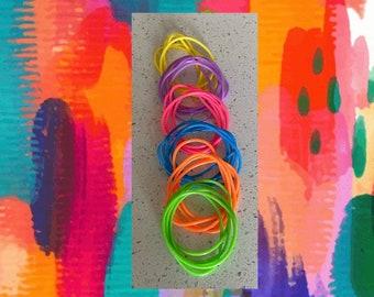 80's Jelly Bracelets, Neon Bracelets, Birthday Gift, Stocking Stuffer, Valentine's Day, Hanukkah, Christmas, Best Friend Gift, Kids Jewelry,