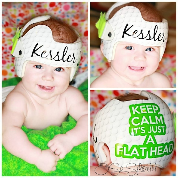 Personalized cranial band golf theme keep calm its just