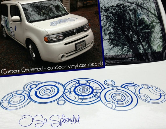 The Doctor's Name in Gallifreyan - Large Doctor Who Inspired Outdoor Vinyl  Car Decal