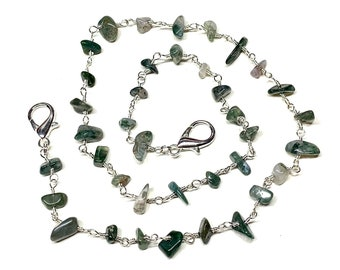 Adult Natural Gemstone Mask Chain