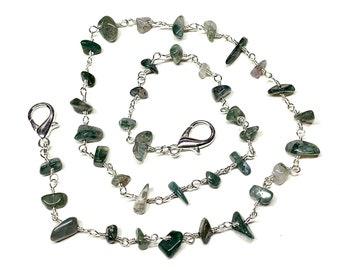 Adult Natural Gemstone Mask Chain