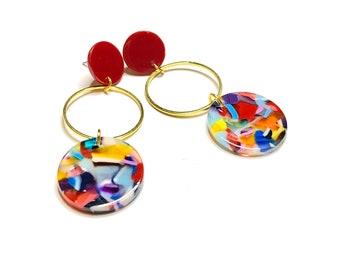 Acetate dangle earrings