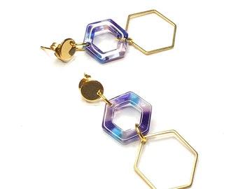 Hexagon Geometric Earrings