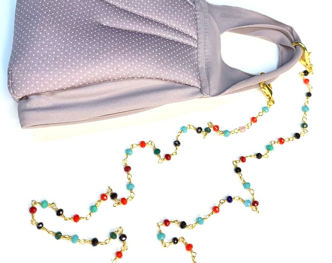 Glass Bead Mask Chain