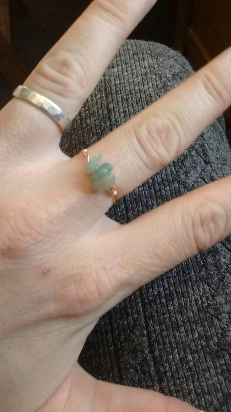 made to order green adventurine Green aventurine Crystal ring