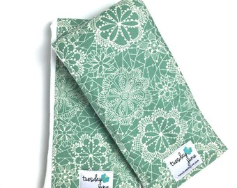Floral Burp Cloths - Mint Burp Cloths - Girl Burp Cloths