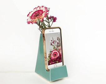 STAK Bloom Phone Vase, Teal