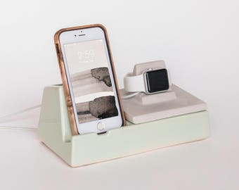 STAK Phone Dock and Apple Watch Charger, Mint