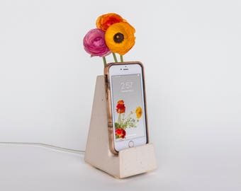 STAK Bloom Phone Vase, Satin Speckle