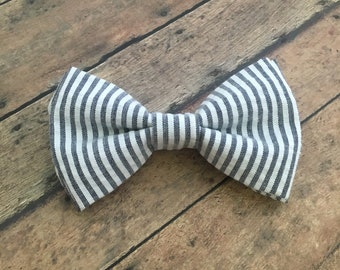 Items Similar To Boys Bow Tie Navy Blue Stripe Seersucker