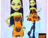 Monster Doll Haunt Couture quot Witching Hour quot high fashion doll clothes Casta Fierce Witch Halloween
