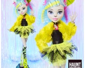 Monster Doll Haunt Couture quot Howl quot high fashion fierce Silvi Timberwold Halloween Punk 80 39 s Goth