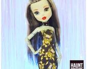 Monster Doll Haunt Couture quot Electro-Pop Frankenstein quot high fashion doll clothes Frankenstein Neon Halloween