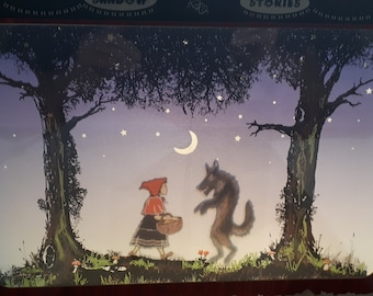 Tabletop Shadow Puppet Theatre with Little Red Riding Hood, Three Little Pigs, Goldilocks, Jack & the Beanstalk in colour