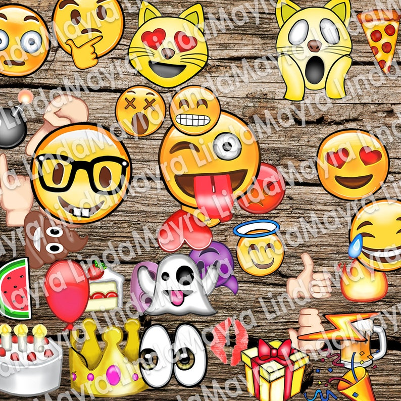 Emoji Theme Birthday Party Photo Props Instant Download
