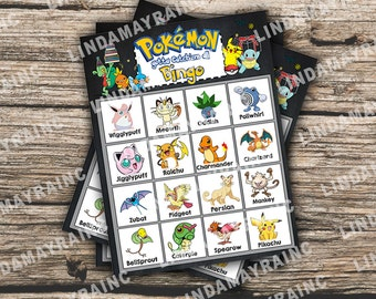 Pokemon Bingo Instant Digital Download