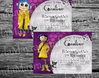 Coraline invitation Digital Download