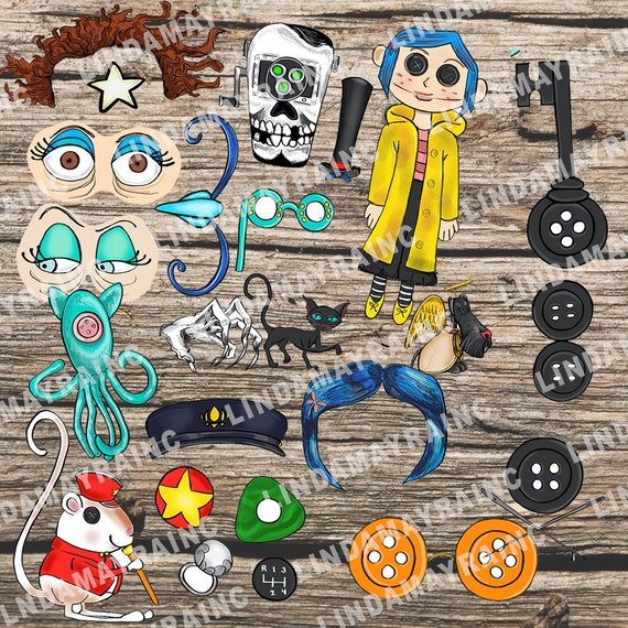 Coraline Birthday Party Theme Prop Photo Booth Digital