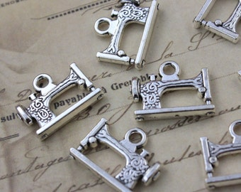 20 or 50 BULK pcs Silver Sewing Machine Tailor Charms 4 US Seller AS831