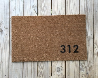 Custom Address Doormat. Unique Doormats, Cute welcome mat, home and living, housewarming gifts, home décor, handmade, trendy