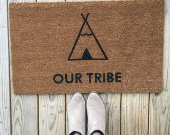 Teepee Doormat; funny Doormats, Unique Doormats, Cute welcome mat, home and living, housewarming gifts, home décor, handmade, trendy