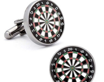 211564de530d Silver Dartboard Cufflinks | novelty cufflinks | mens cufflinks | gift for  groom | game cufflinks | cufflinks gift | dart board cufflinks