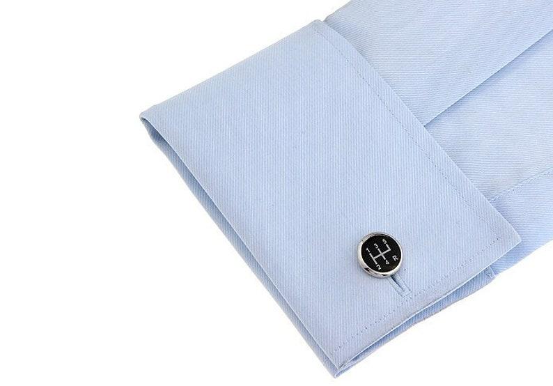 Black Manual Car Gear Cufflinks best man cufflinks driving cufflinks car gear cufflinks groomsmen cufflinks novelty cufflinks