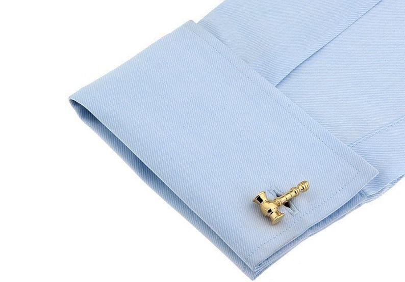 lawyers cufflinks mens cufflinks Golden Judge/'s Gavel Hammer Cufflinks novelty cufflinks gavel cufflinks cufflinks set