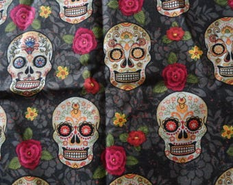 Sugar Skull Steering Wheel Cover