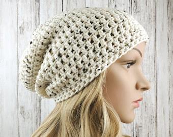 Crochet Winter Hat Unisex Beanie Wide Brim Slouchy Beanie Fall Winter Beanie Hipster Beanie Boho Beanie Hat Crochet Slouchy Hat