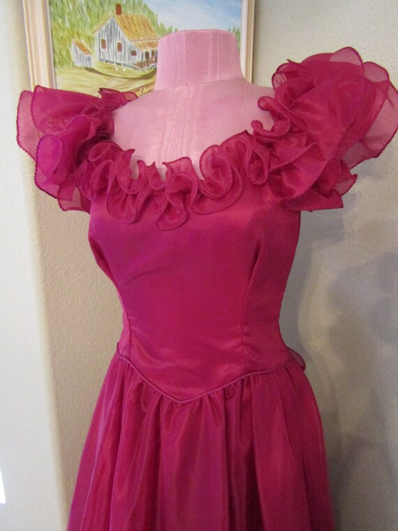 Vintage 1970s/1980s Formal/Prom Dress Size XS