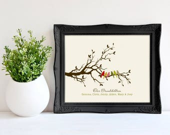 Gift For Grandma Personalized Mothers Day Idea Christmas Nana Grandmother From Grandkids 8 X 10