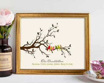 Grandparents gifts for Christmas Grandparents Gifts Grandparents Gift ideas Personalized Grandparents gifts from grandkids print 8 x 10  sc 1 st  Etsy & GRANDMA GIFT Gifts for Grandma Personalized Grandma Gift | Etsy