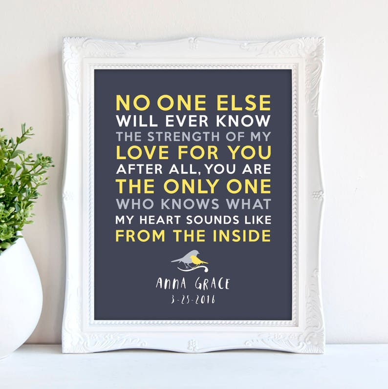 No one else will ever know quote 8x10 Strength of my love image 0