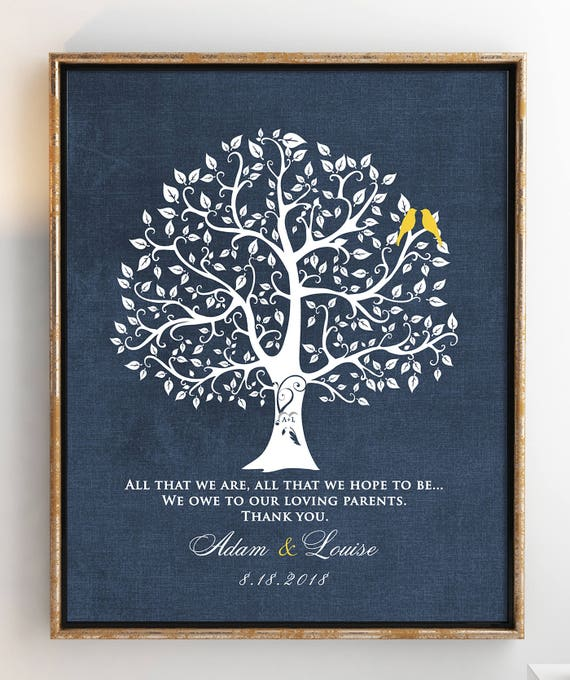 Wedding Gift For Parents From Bride And Groom Thank You Gift Etsy