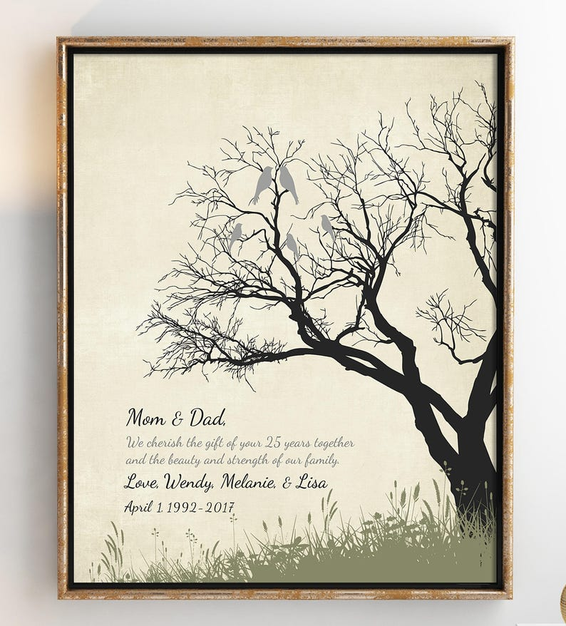 2d0c078d5523 25th Anniversary Gifts for parents 25th anniversary gifts for