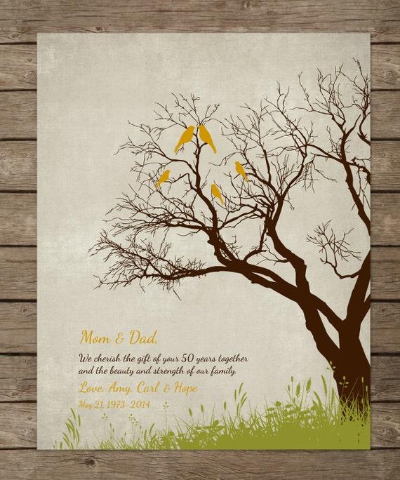 Imprimer 50eme Cadeau D Anniversaire De Mariage Parents Anniversaire Cadeau Personnalise Or Anniversaire Imprimer 8 X 10 Couleurs D Impression