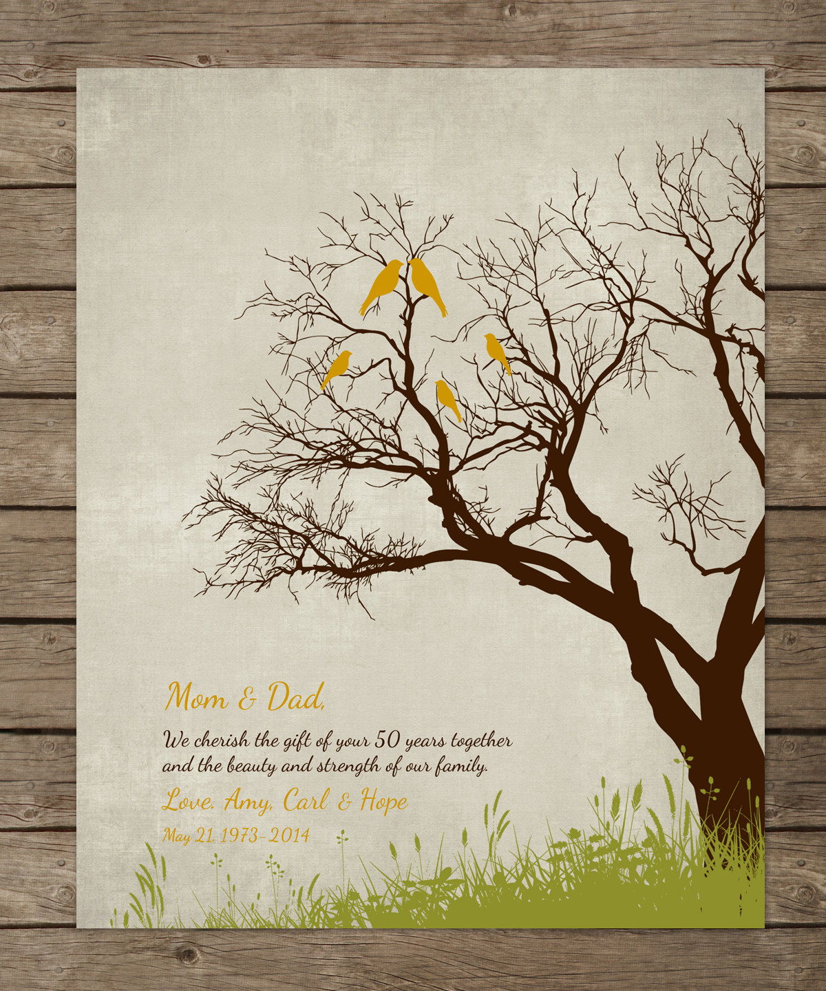 45 Wedding Anniversary Gift For Parents: 50th Wedding Anniversary Tree Gift Anniversary Gift For